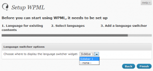 Enabling the language switcher widget