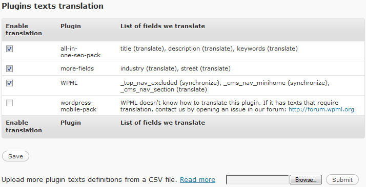 Custom field translation control in WPML