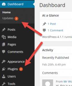 WPML updates will appear like any other WordPress updates in your admin dashboard