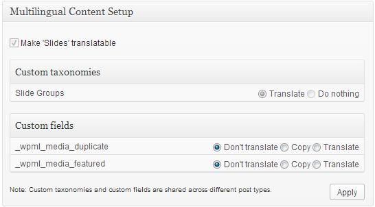 Multilingual Content Setup