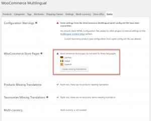 WooCommerce Multilingual Status And Alerts