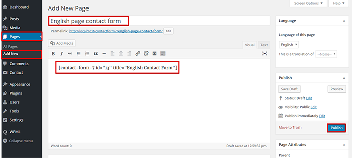 Using Contact Form 7 with WPML - WPML