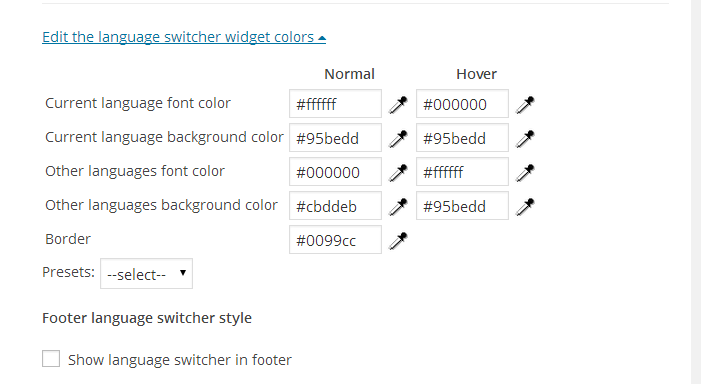 how to change the font colour on wordpress