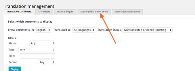 ACF - Multilingual Content Setup