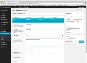 Adding Field Groups & Groups