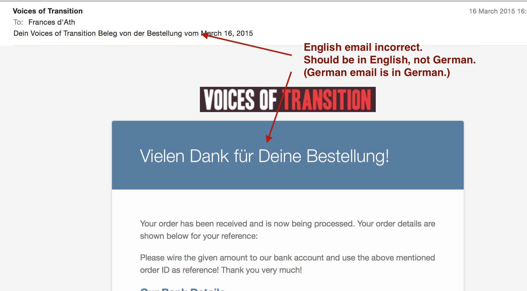 WooCommerce Order Received email strings in translated language ...