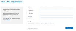 TranslateMedia registration form