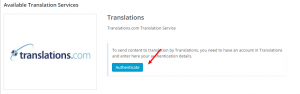 Authenticating Translations.com