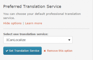 Selected Preferred Translation Service