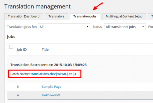 Translation Jobs in progress after having been sent for translation