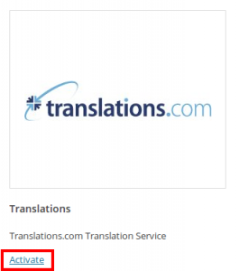 Activating Translations.com