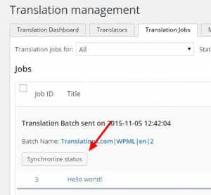 Checking for cancelled translation jobs