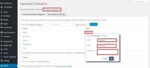 portofolio category translation