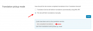 Checking for canceled jobs in the manual translation pickup mode