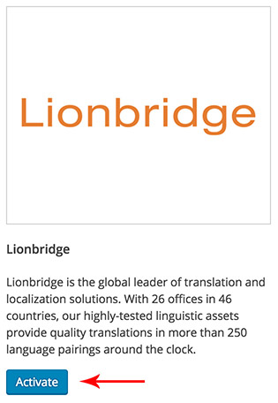 Activating Lionbridge