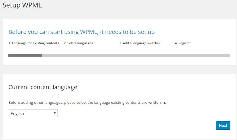 The default language of the site