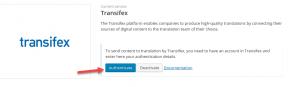 Authenticating Transifex
