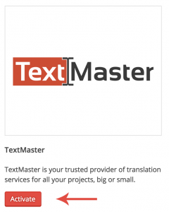 Activating TextMaster
