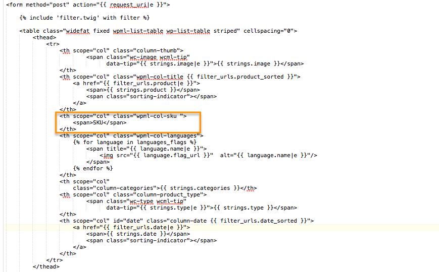 can wooCommerce multingual display SKU? - WPML