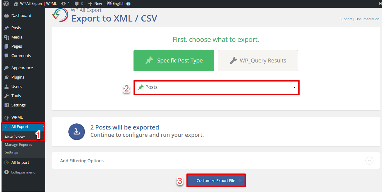 Export Multilingual Websites Using WP All Export and WPML - WPML