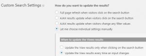 Configurando uma View - 2. Selecione opções para esse tipo de View