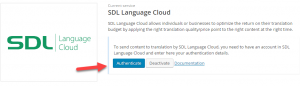 Authenticating SDL Language Cloud