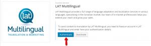 Authenticating LAT Multilingual