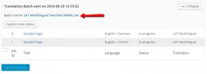 Translation Jobs in progress after having been sent for translation