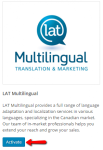 Activating LAT Multilingual