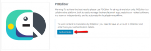 Authenticating POEditor