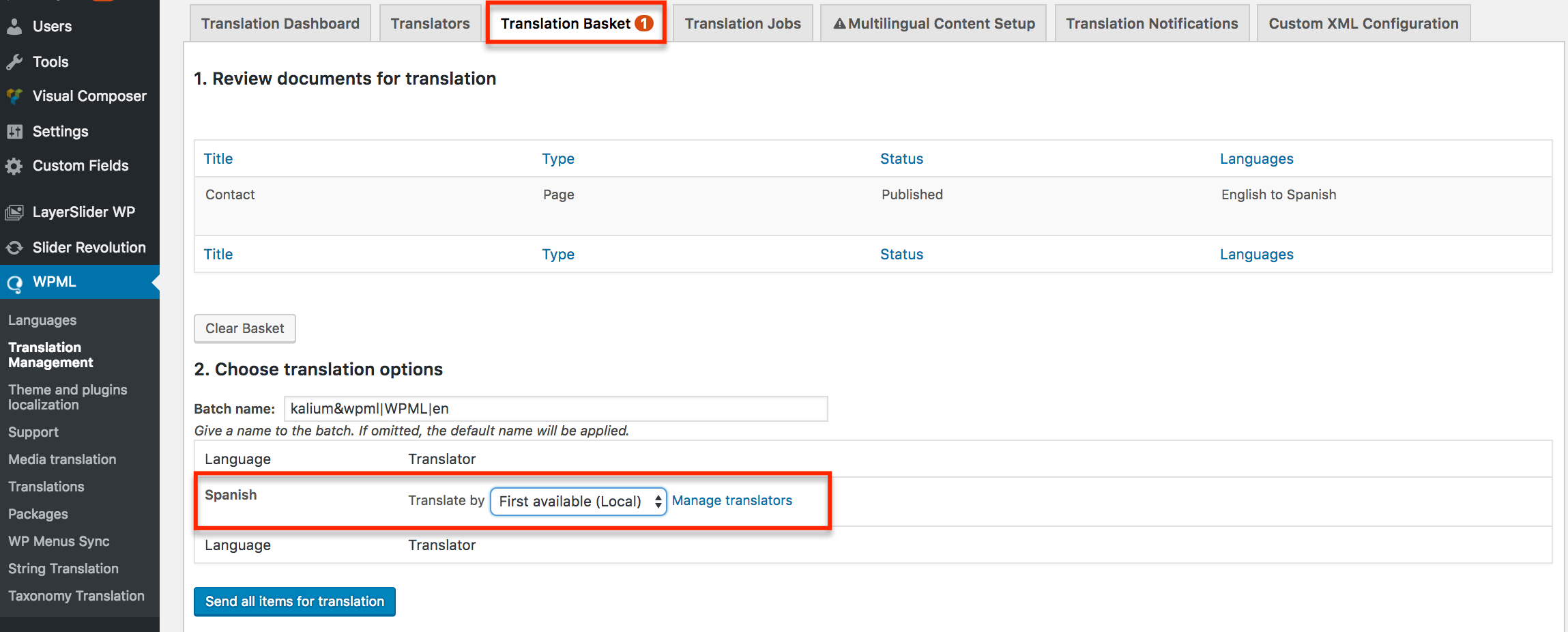 Using WPML to translate page builders