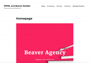 Beaver Builder and WPML