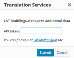 LAT Multilingual authentication dialog window